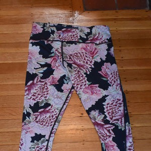 BRAND NEW athleta floral workout pants Size Small
